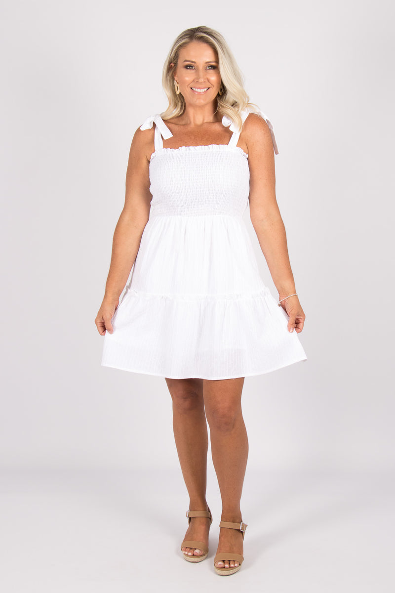 Coree Dress in White