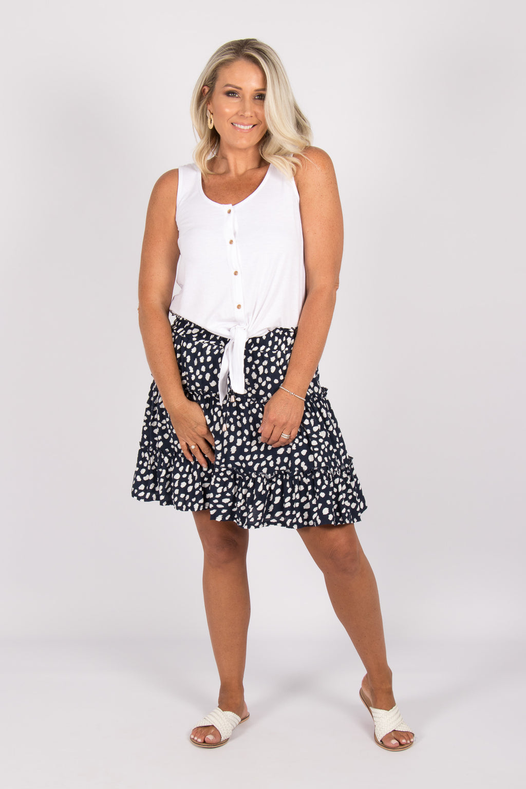 Tina Skirt in Navy