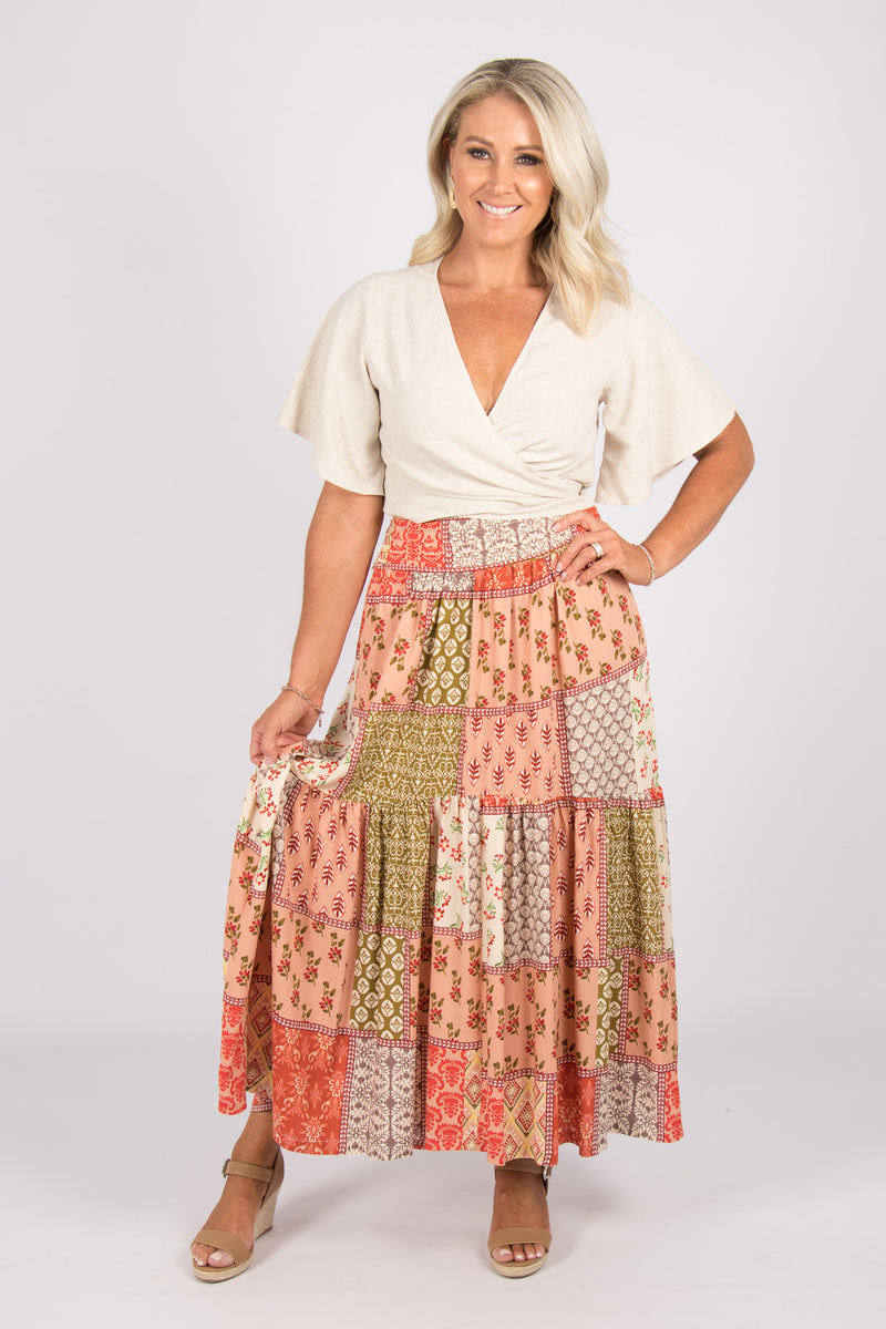 Freida Maxi Skirt in Folktown
