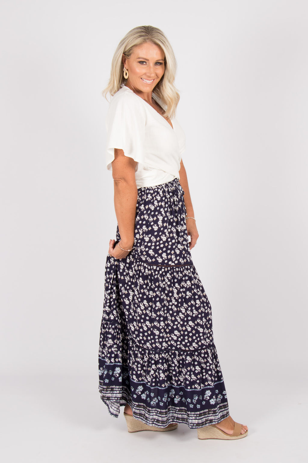 Arizona Maxi Skirt in Navy