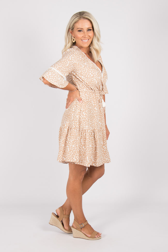Trixie Dress in Nude