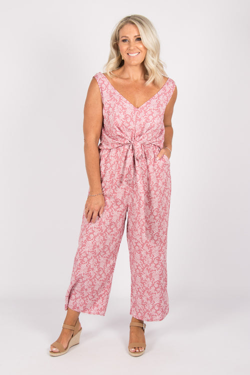 Davis Jumpsuit in Pink