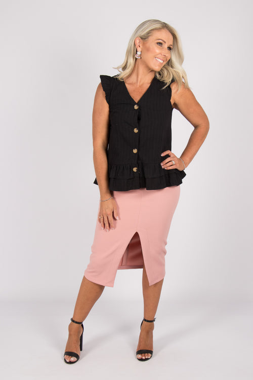 Gemma Top in Black