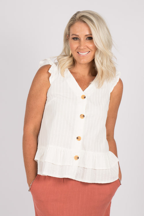 Gemma Top in Ivory