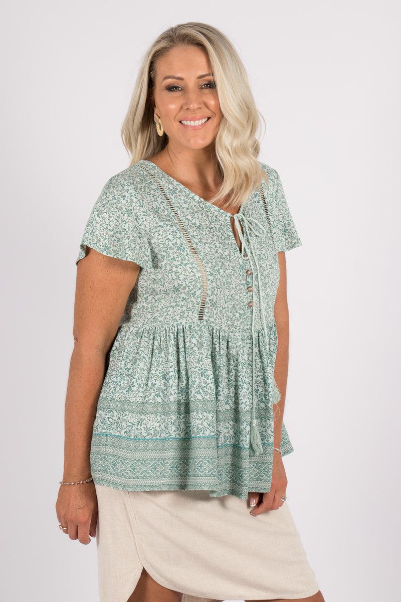 Trina Top in Mint