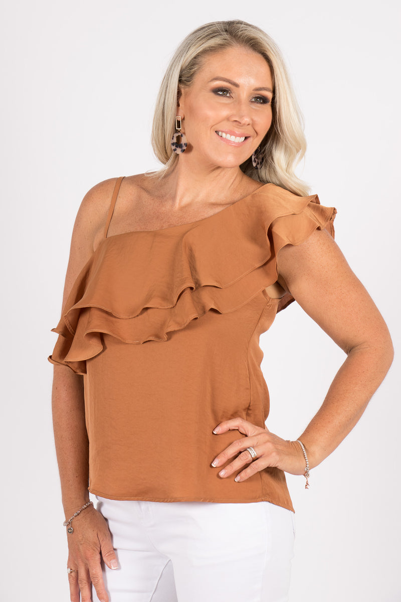 Angelica Top in Cognac