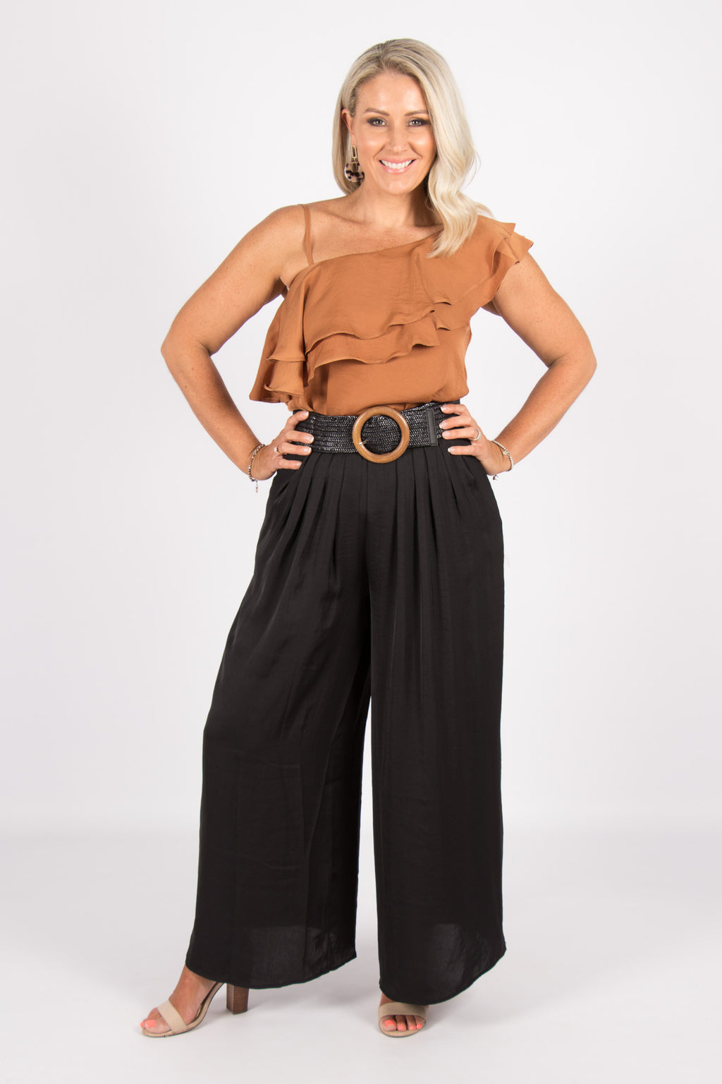 Lucinda Wide Leg Pants in Black