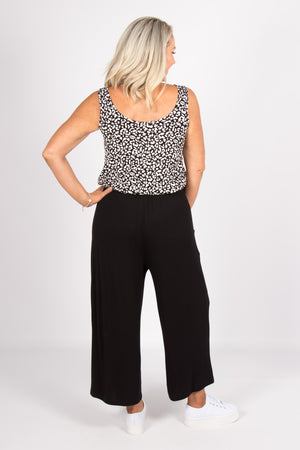 Dublin Cropped Pant in Black