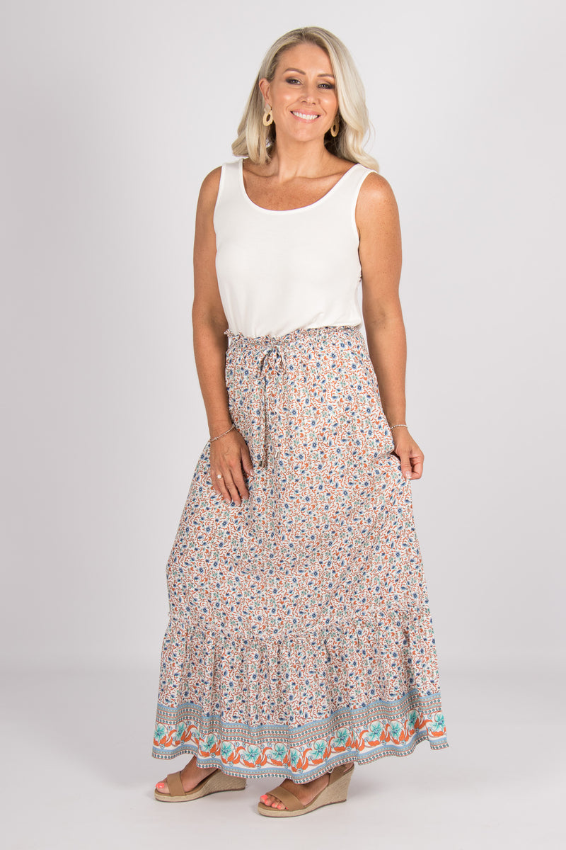 Aberline Maxi Skirt in Blue