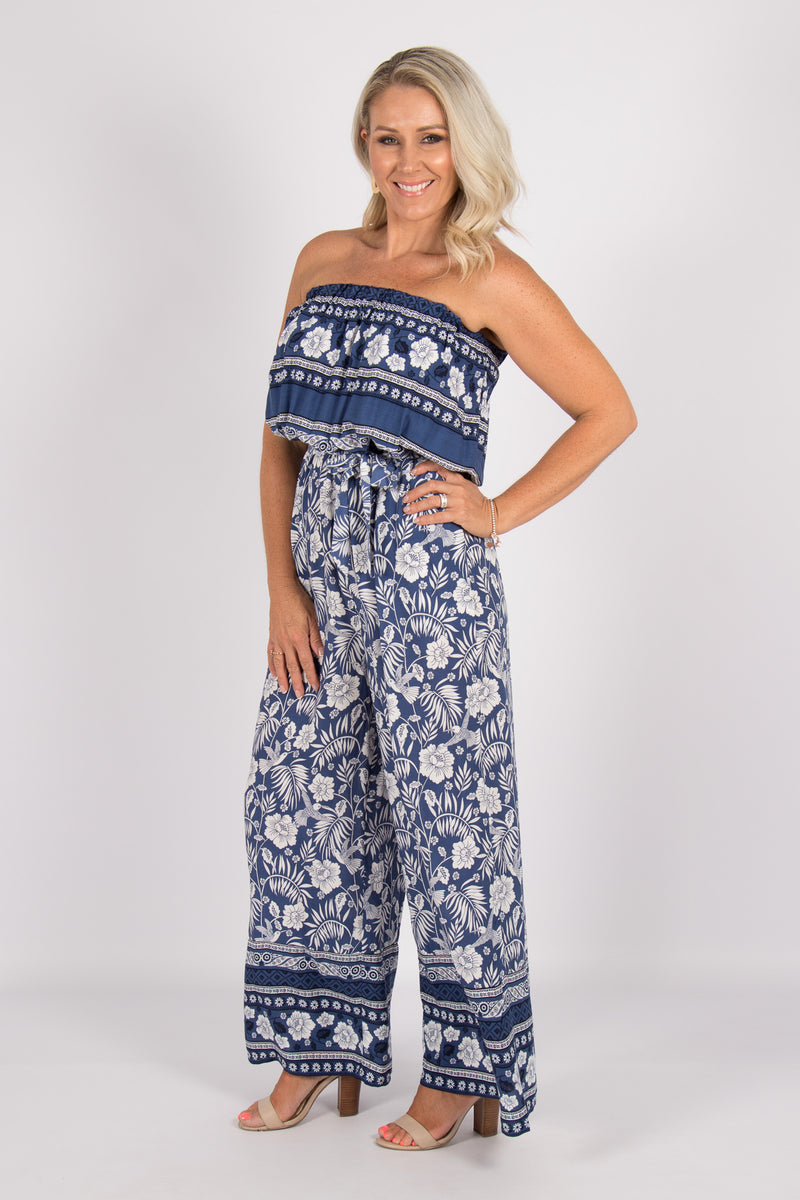 Sands Jumpsuit in Navy Blue