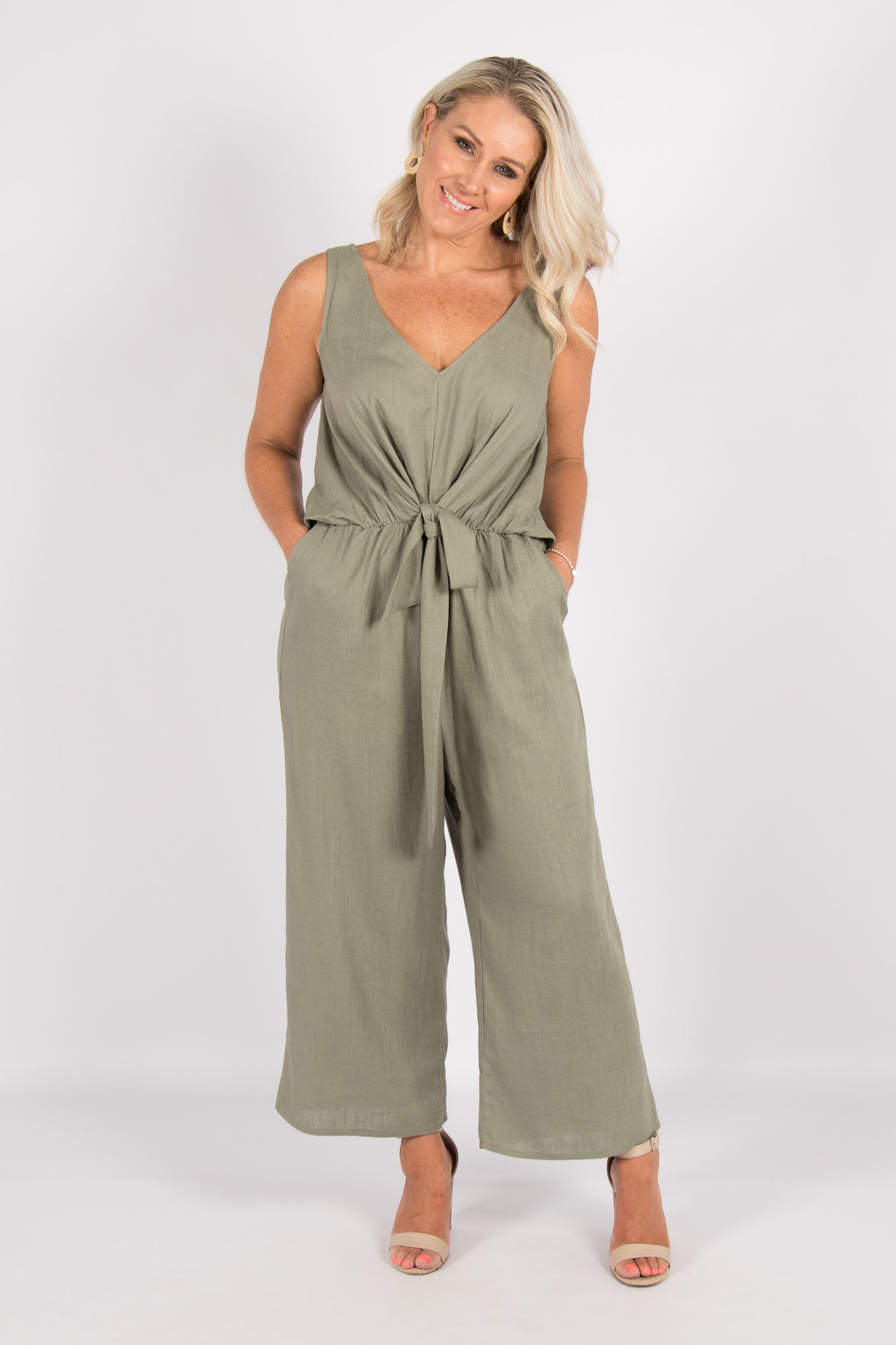 Davis Jumpsuit in Khaki