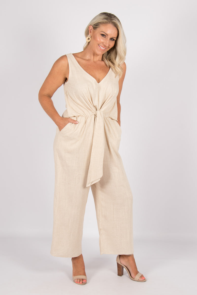 Davis Jumpsuit in Natural