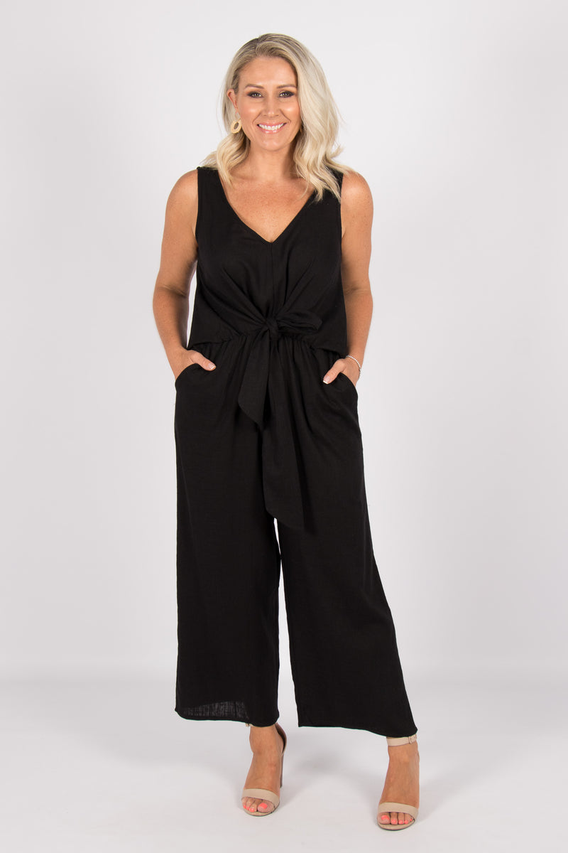 Davis Jumpsuit in Black