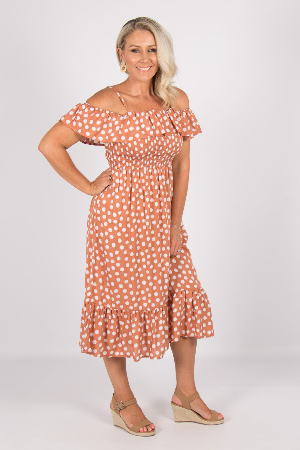 Almada Dress in Soft Terracotta