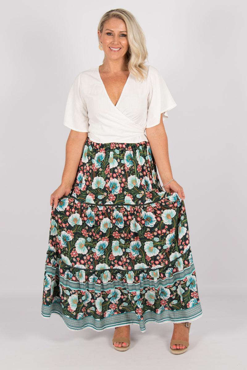 Arizona Maxi Skirt in Green