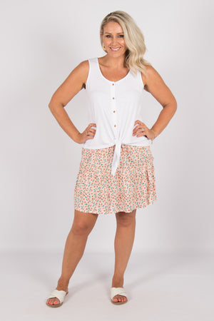 Tina Skirt in Peach Blossom