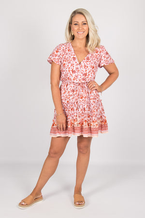 Peta Dress in Rose Pink