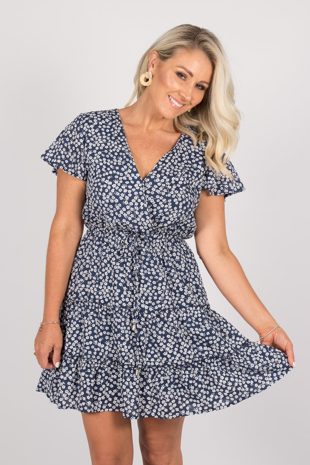 Sky Dress in Navy