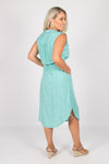 Fairmont Midi Dress in Aqua