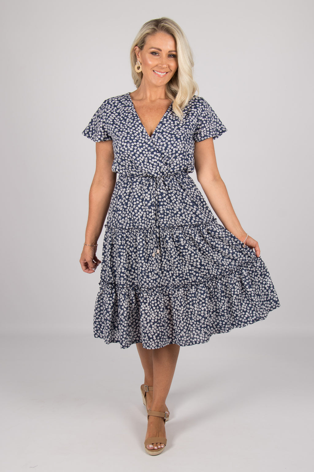 Valley Dress in Navy
