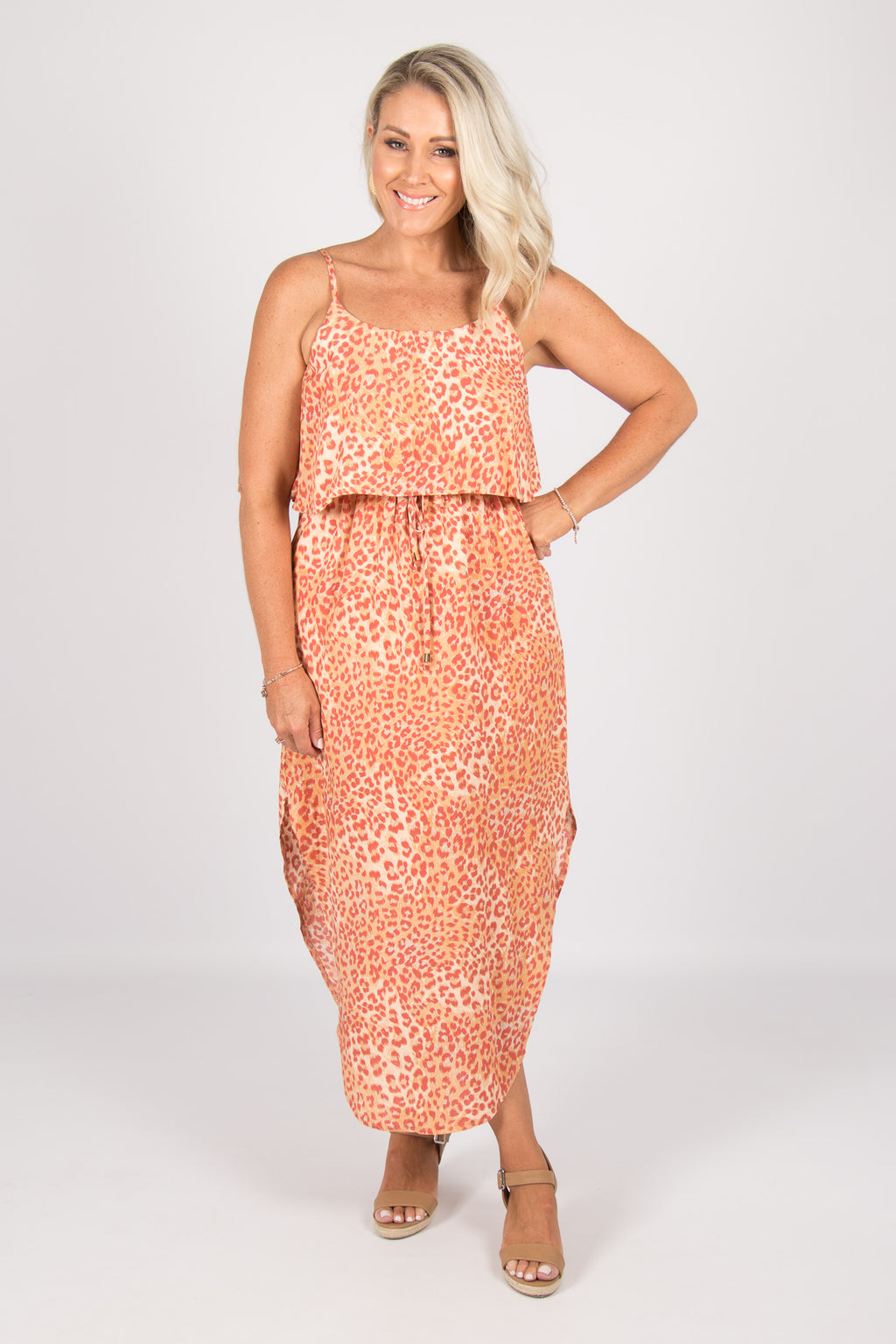 Sharlene Dress in Tangerine
