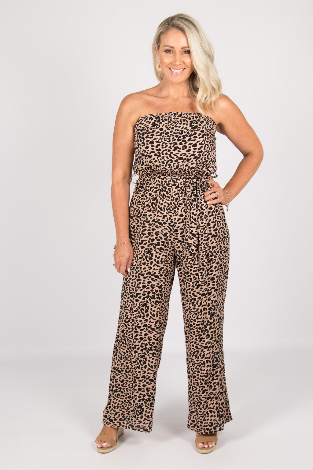 Double Bay Jumpsuit in Caramel