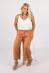 Quinn Linen Pants in Sunset