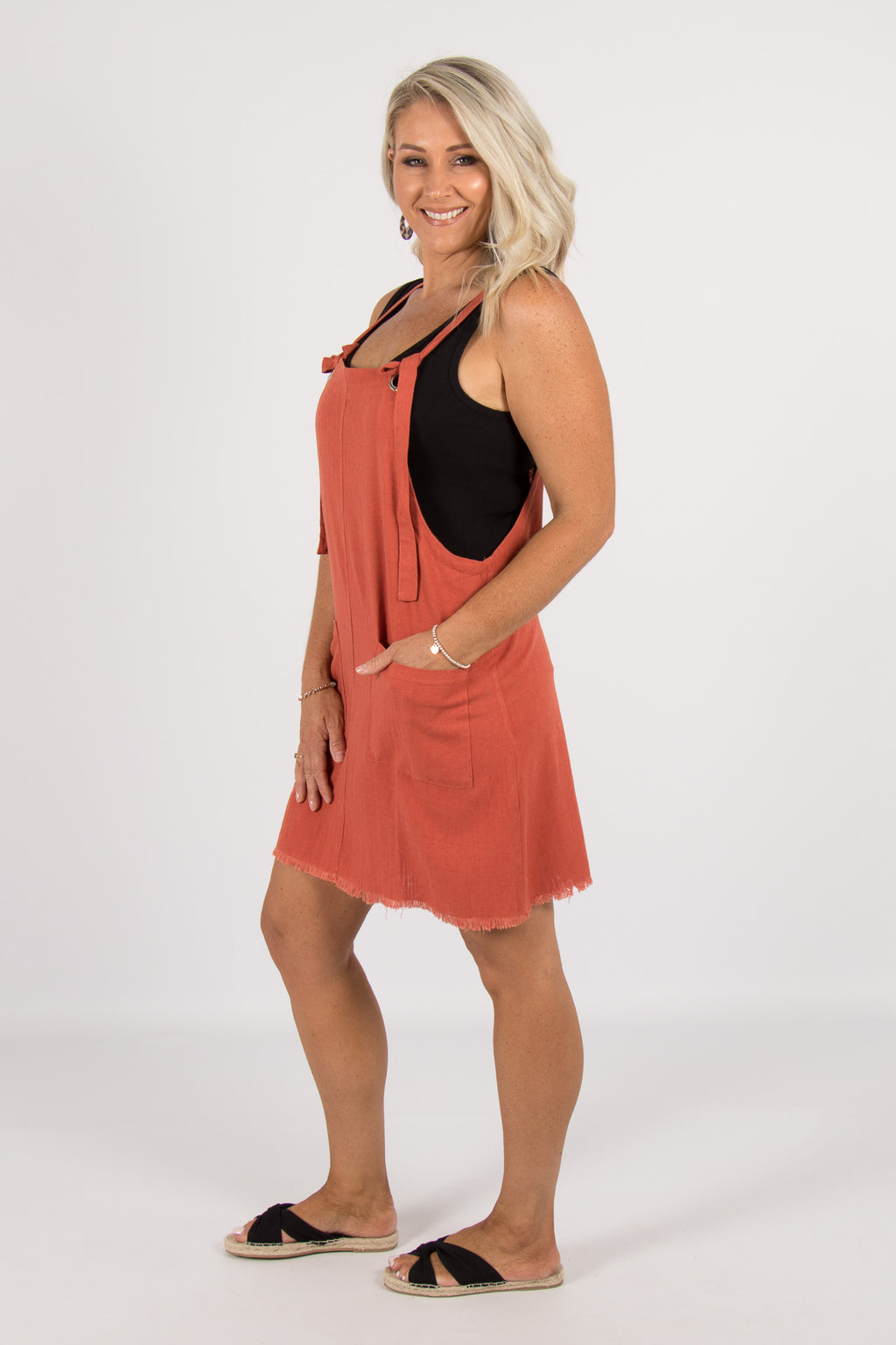Sarah Dress in Terracotta