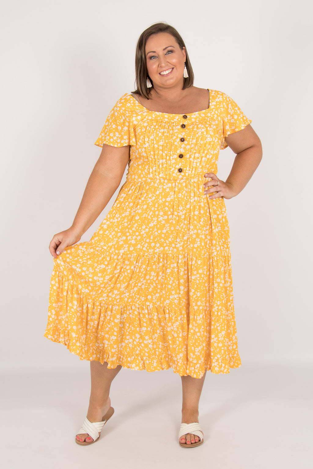 Lizzy Dress in Yellow