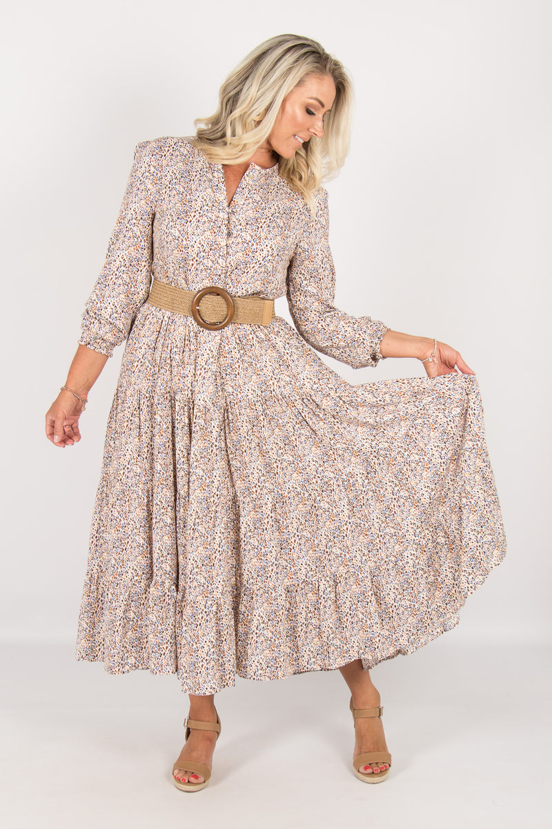 Dawn Dress in Rustic Leopard