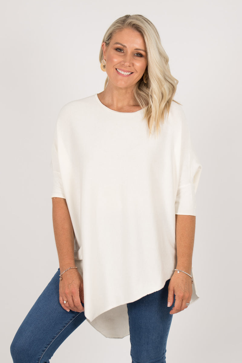 Charlie Knit Top in Ivory