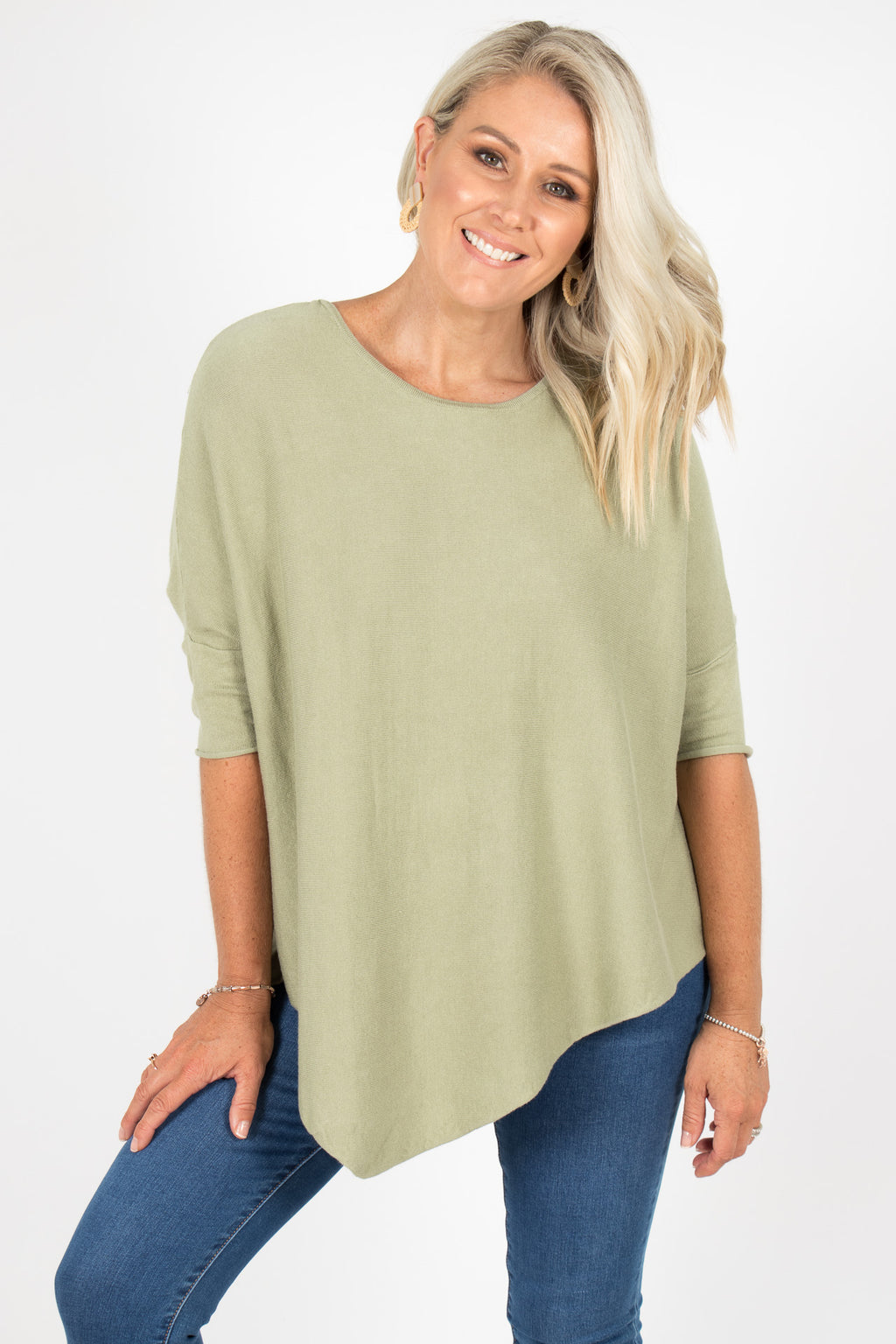 Charlie Knit Top in Avocado