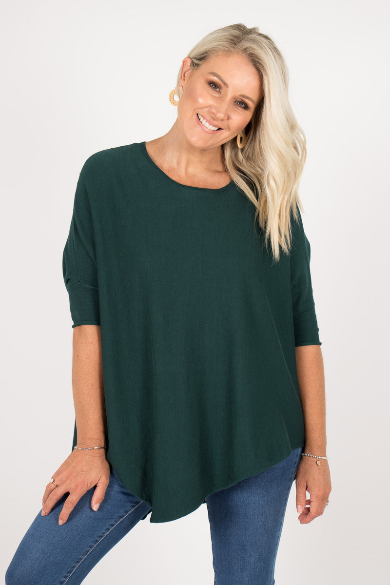 Charlie Knit Top in Emerald