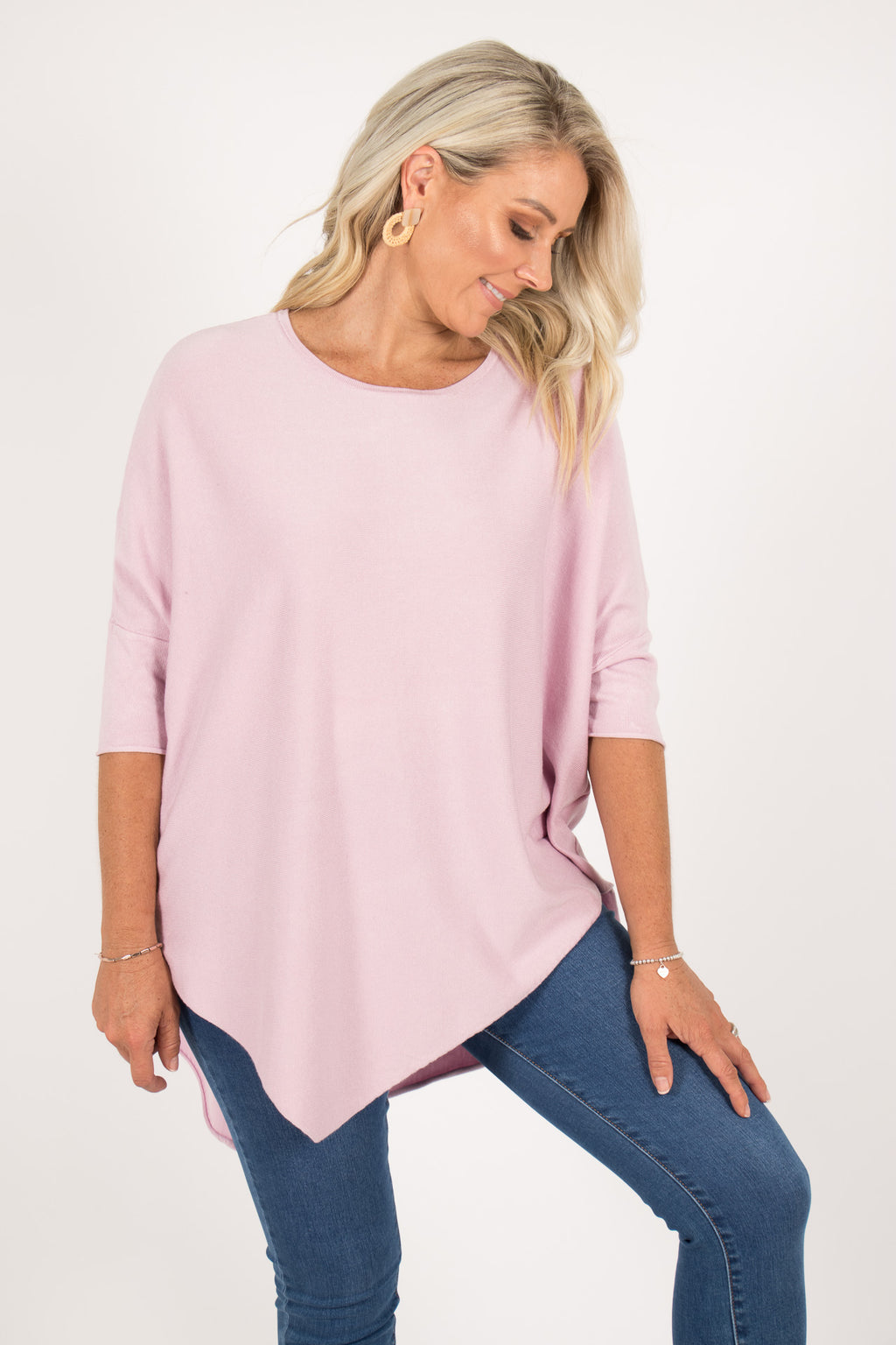 Charlie Knit Top in Mauve