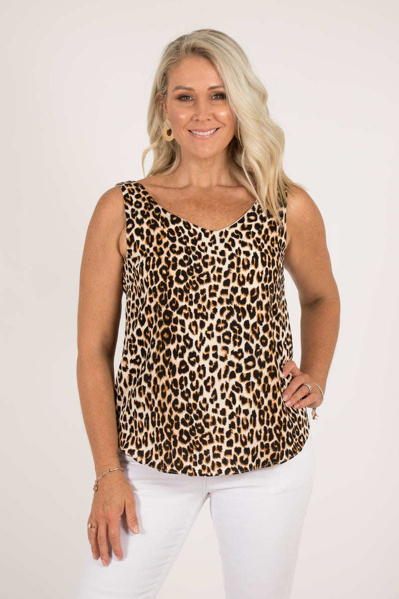 Sawyer Singlet in Leopard