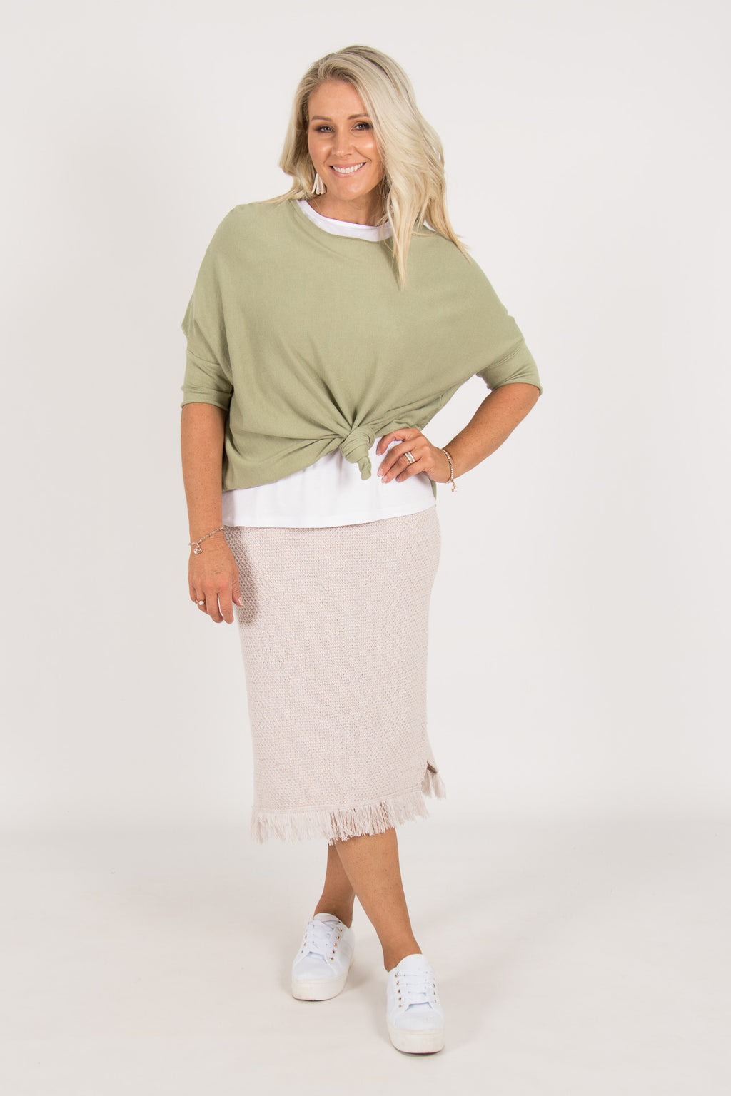 Karanda Knit Skirt in Oatmeal
