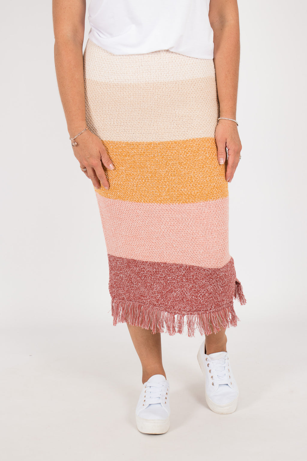 Karanda Knit Skirt in Earth