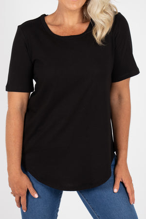 Ariana Tee in Black