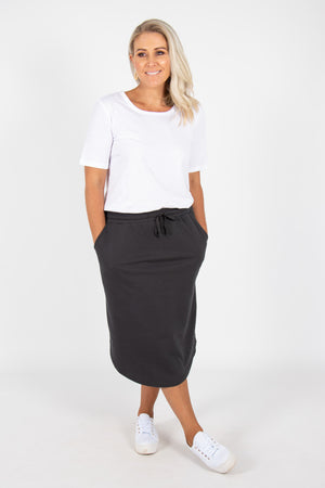 Ellen Skirt in Gunmetal