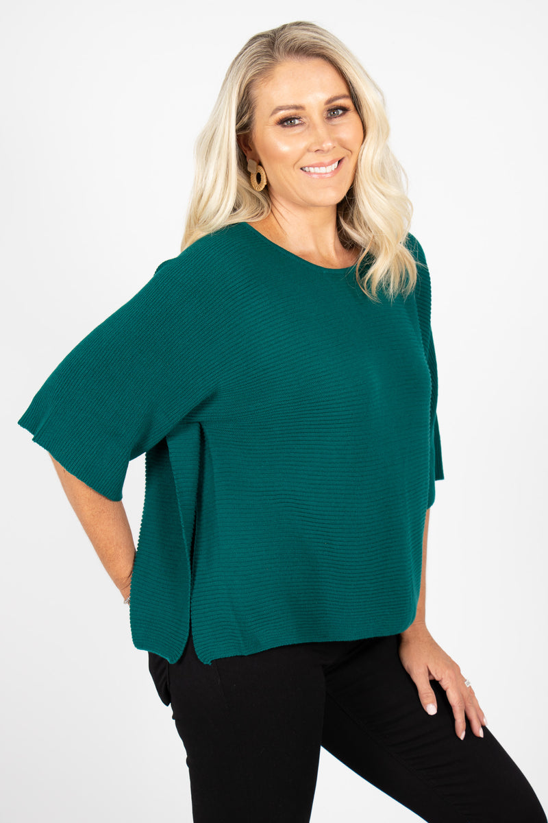 Emery Knit Top in Emerald