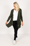 Melbourne Cardigan in Olive/Black Terrain
