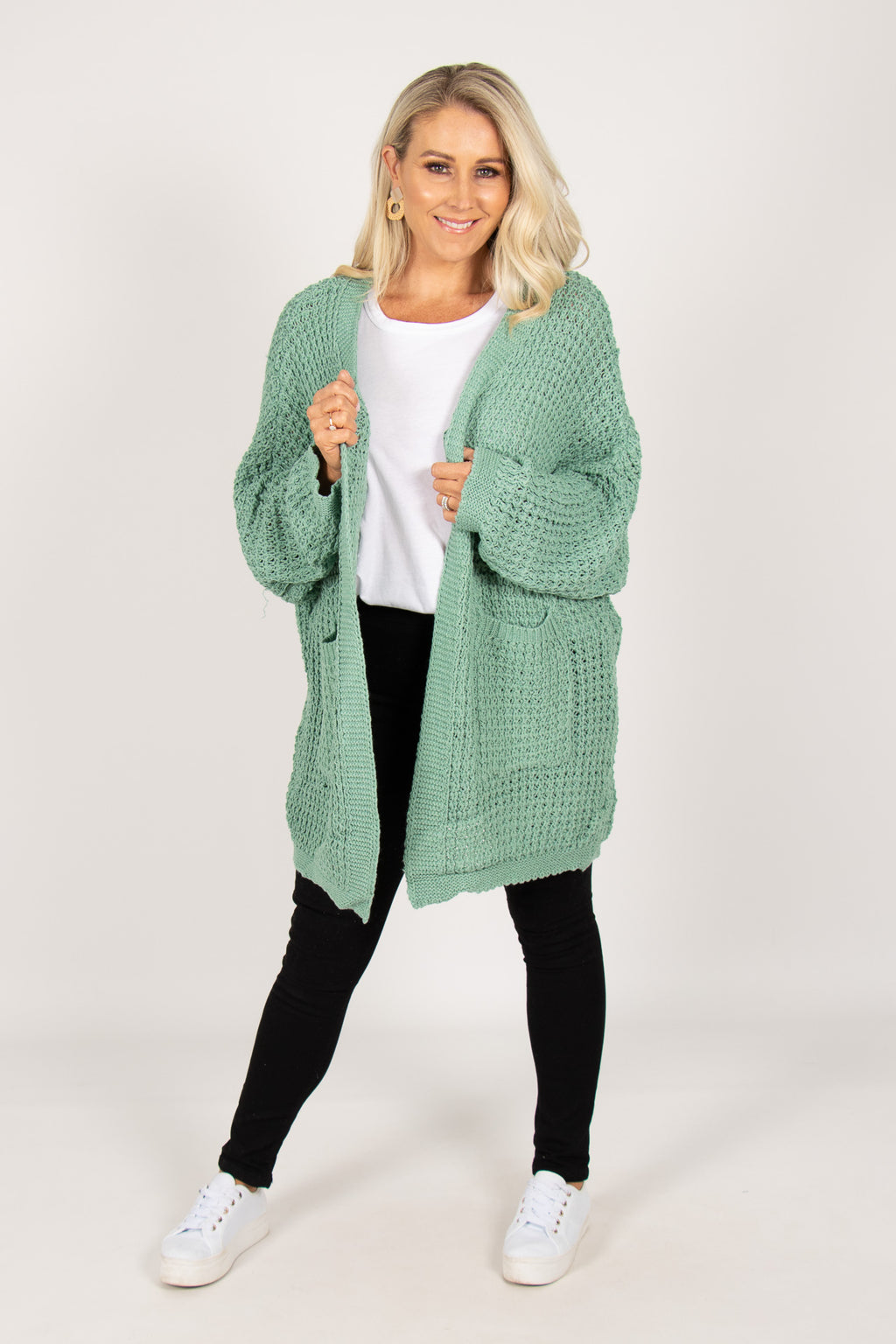Knox Cardi in Green