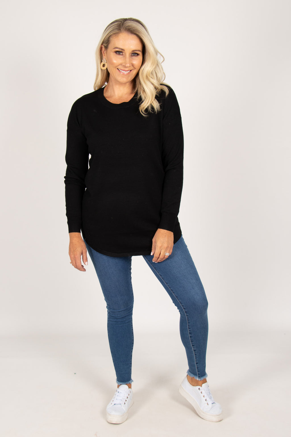 Sophie Knit Jumper in Black