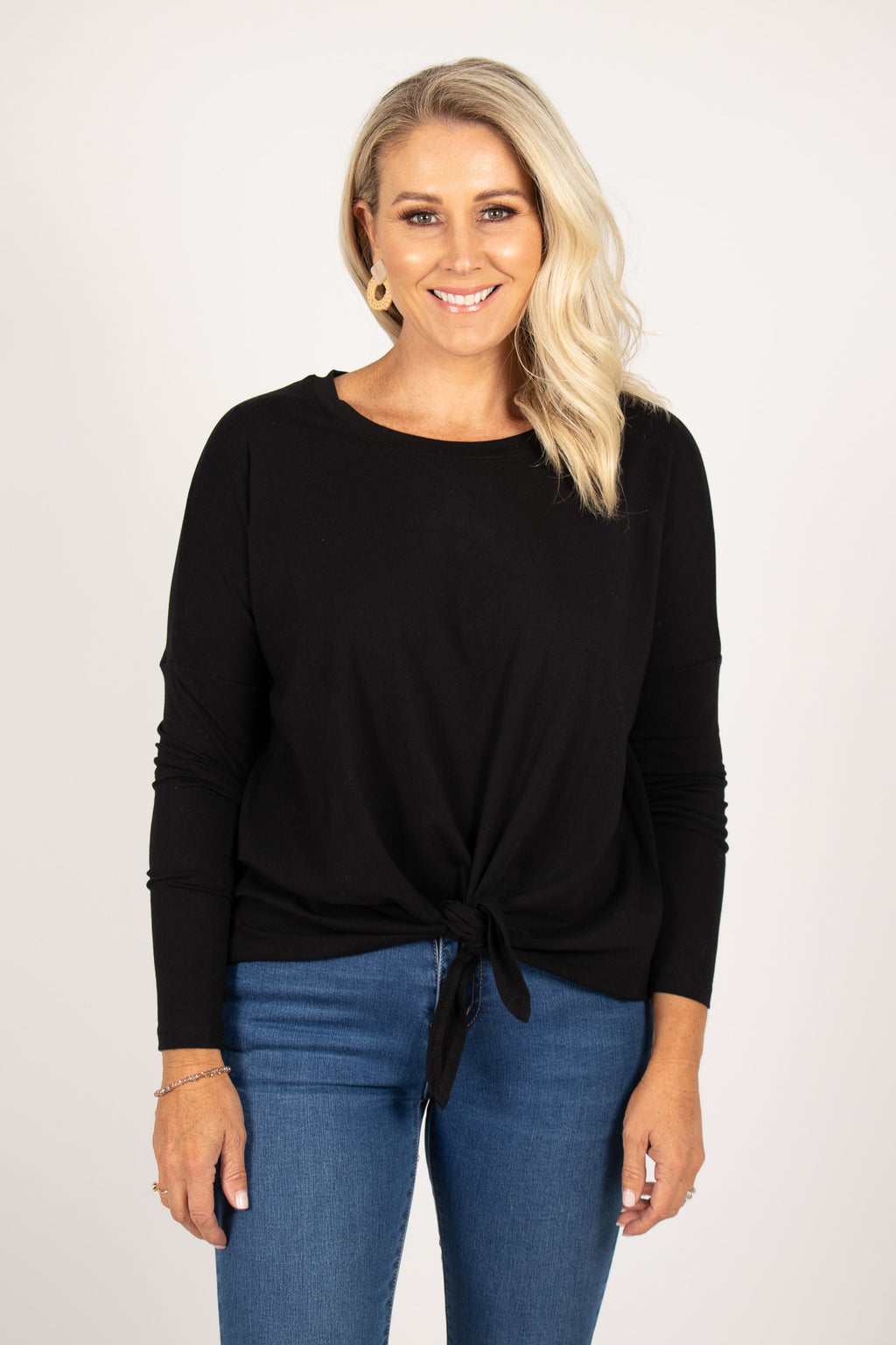 Willow Knot Top in Black
