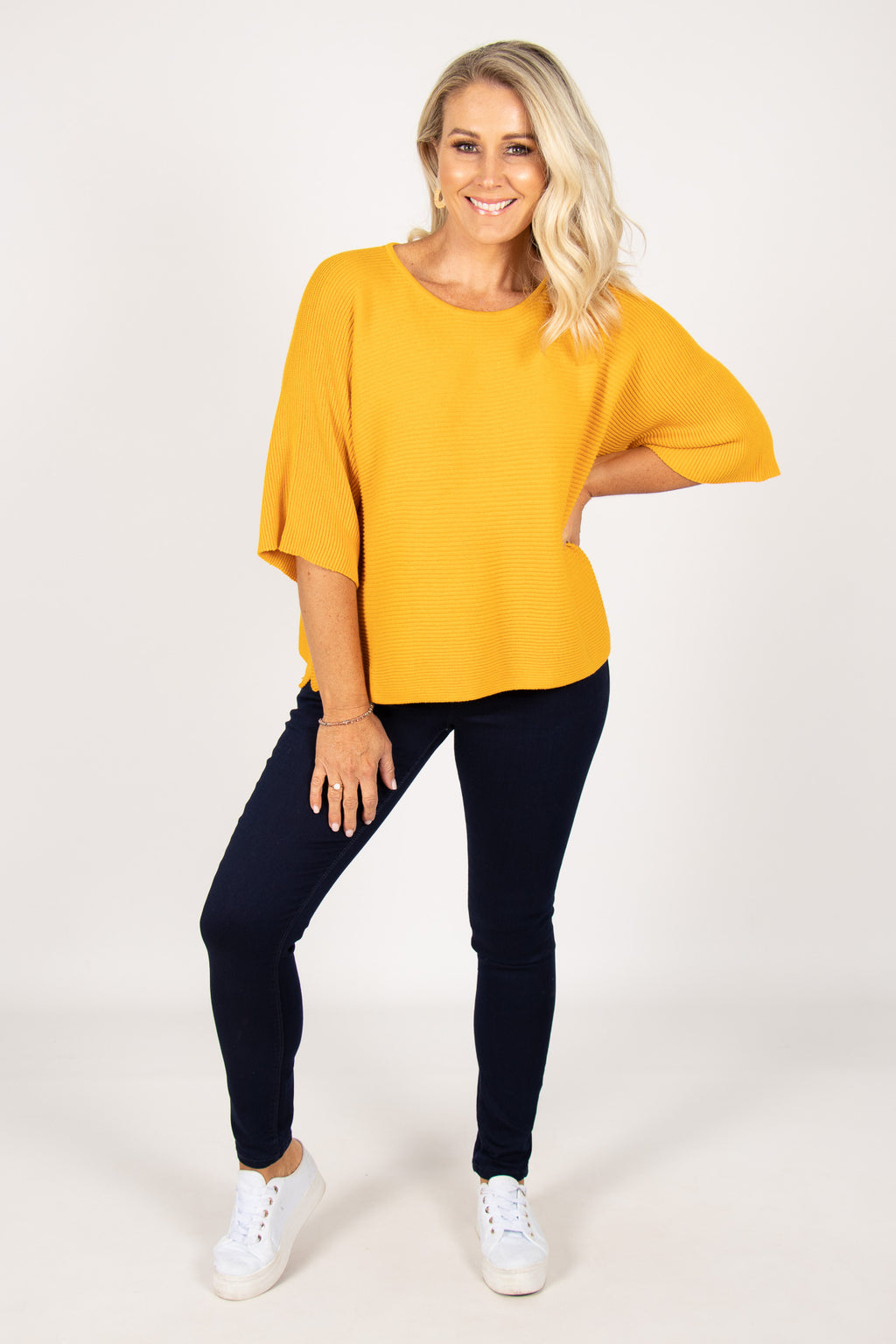 Emery Knit Top in Mustard