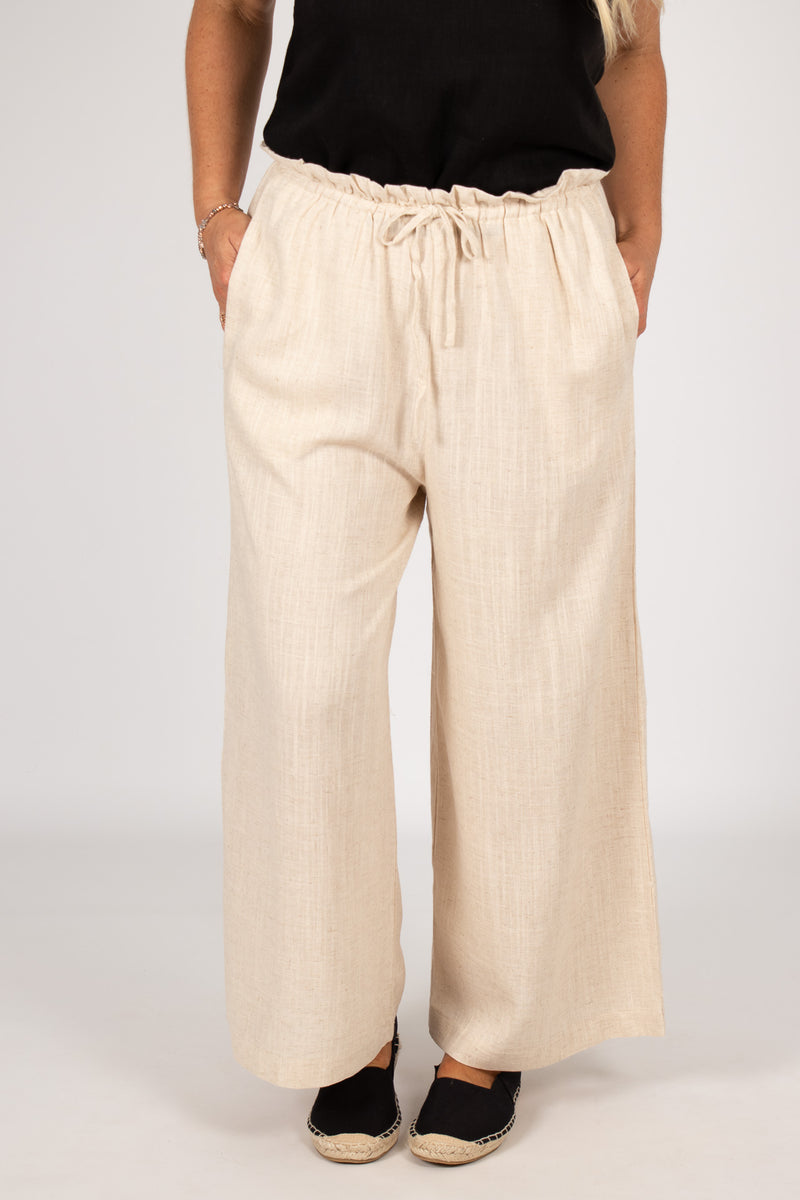 Quinn Linen Pants in Natural