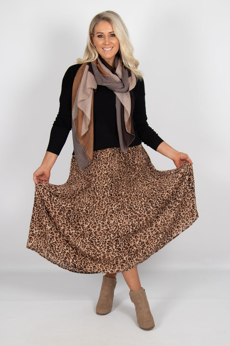 Carter Skirt in Leopard