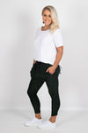 Sasha Joggers in Khaki/Black