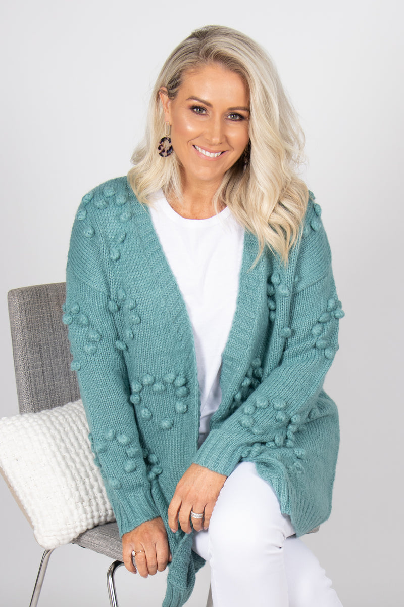 Tidal Cardi in Sea Green