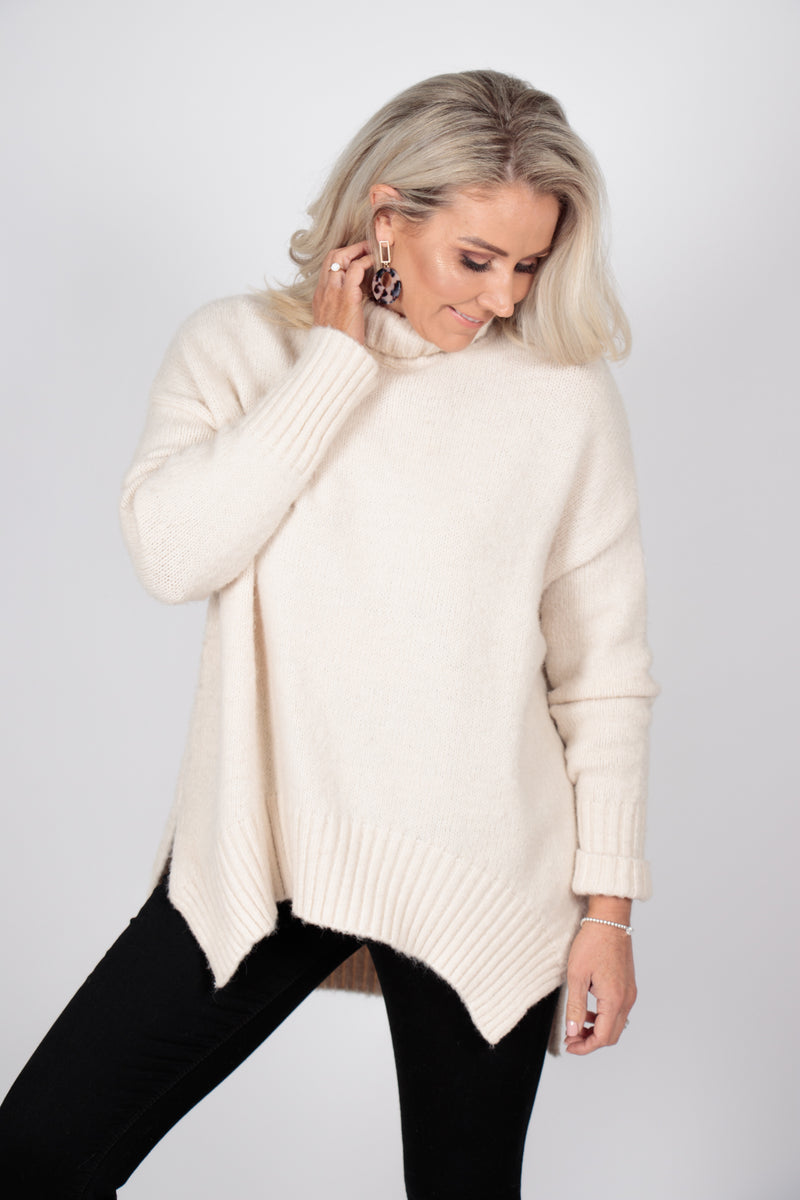 Marcello Knit Jumper in Oatmeal